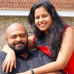 Sadhika Venugopal with her husband Bhibhin Manari