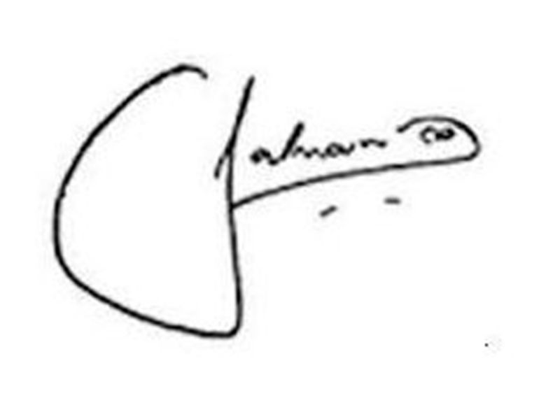 Salman Khan Signature