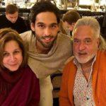 Sameera Tyabjee with her ex-husband Vijay Mallya and son Siddharth Mallya