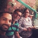 Shikhar Dhawan with his parents