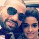 Shikhar Dhawan with his sister