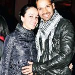 Ayesha Mukherjee with her husband Shikhar Dhawan