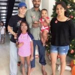 Shikhar Dhawan with his wife and children