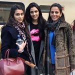 Shloka Mehta with her mother and sister