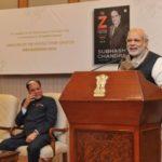 Subhash Chandra With Narendra Modi At Launch Of His Book