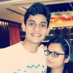 Vidit Sharma with his sister