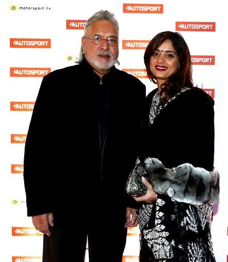 Vijay Mallya with Pinky Lalwani