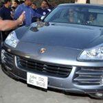 Akshay Kumar In His Car Porsche Cayenne