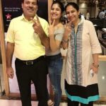 Anshul Chauhan with her parents