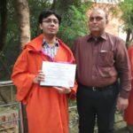Atul Prakash with his father