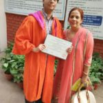 Atul Prakash with his mother