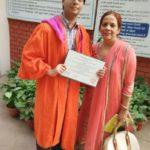 Atul Prakash with his mother