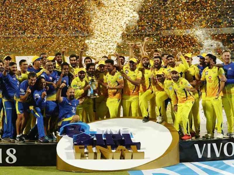 CSK Celebrating The 2018 IPL Win