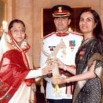 Chanda Kochhar With Padma Bhushan