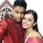 Suryakumar Yadav with his wife Devisha Shetty