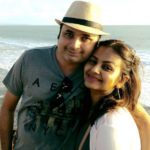 Disha Savla with her husband