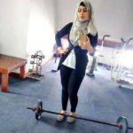 Farha Fatima Khan doing workout