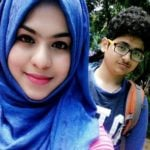 Farha Fatima Khan with her brother Salman Ali Hyder