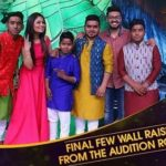 Hemant Brijwasi and his brothers on the set of Rising Star 2