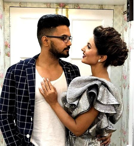 Hina Khan with Rocky Jaiswal