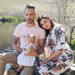 Imari Du Plessis with her husband and daughter
