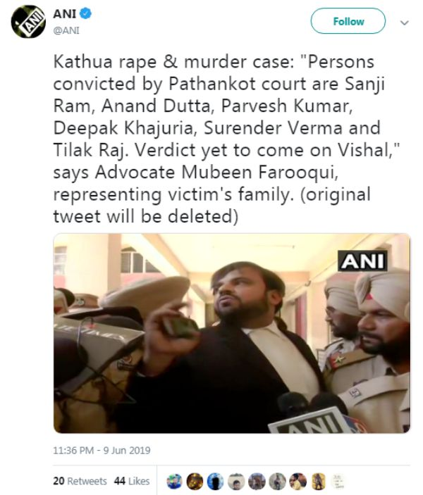 Kathua Rape Case Verdict