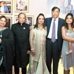 Lakshmi Mittal With His Wife, Sister And His Sister's Husband