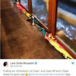 Lara Dutta - Mahesh Bhupati towels tweets
