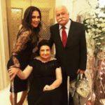 Lara Dutta with her parents