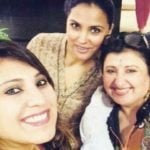 Lara Dutta with her sisters