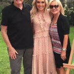 Lee Watson with her parents