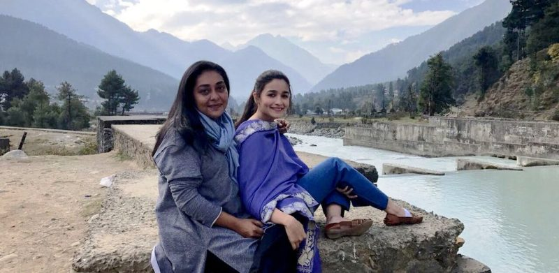 Meghna Gulzar with Alia Bhatt on the sets of Raazi