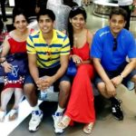 Mukesh Hariawala with his wife and children