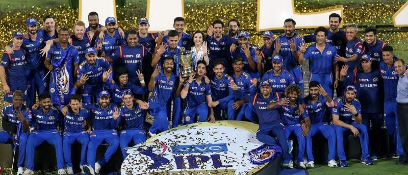 Mumbai Indians Celebrating The 2019 IPL Win