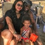 Natasha Berridge with Chris Gayle and Daughter Kris