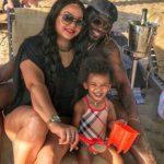 Natasha Berridge with Chris Gayle and Daughter Kris