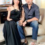 Gautam Gambhir with his wife Natasha Jain