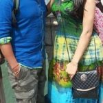 Neha Singh Mishra with her husband