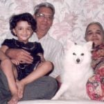 Radhika Dhopavkar With Her Grandparents
