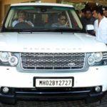 Salman Khan In His Car Range Rover