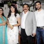 Shireen Mirza with her parents and brother Shahbaz Mirza
