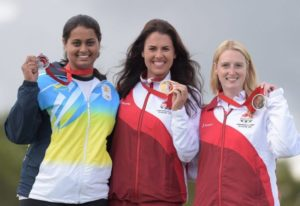 Shreyasi Singh Got Silver Medal At The 2014 Commonwealth Games
