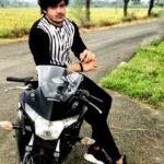 Sonu Jat with his Honda bike