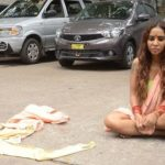 Sri Reddy Protesting