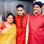 Suryakumar Yadav with his parents
