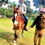 Tej Pratap Singh doing horse-riding
