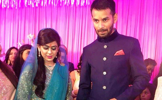 Tej Pratap Yadav with his wife Aishwarya Rai