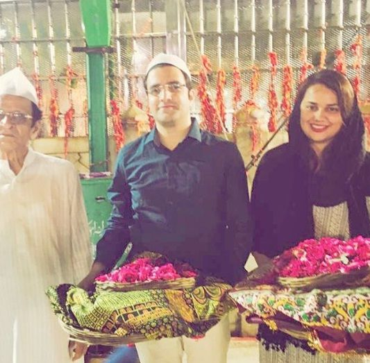 Tina Dabi and Athar Aamir Khan at Ajmer Dargah