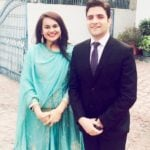 Tina Dabi with her husband Athar Aamir Khan