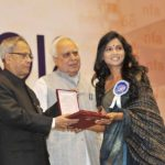 Usha Jadhav winnner of National Film Award for the Best Actress for the movie 'Dhag'